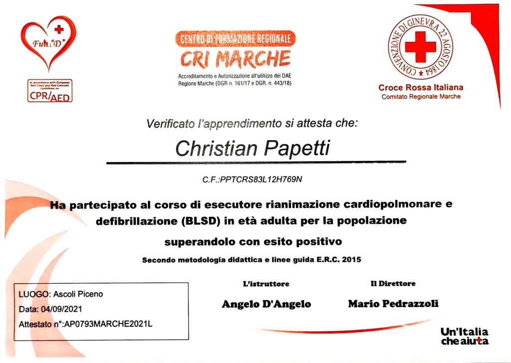certificato blsd centro medico ascoli piceno